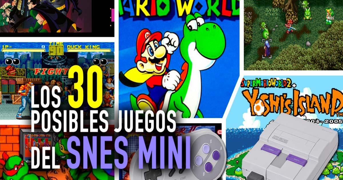Los 30 Posibles Juegos Del Snes Mini